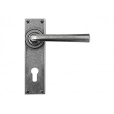 Pewter Euro Lock/Keyhole Lever Handle (sprung)