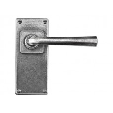 Pewter Lever Handle on Jesmond Long Latchplate (sprung)