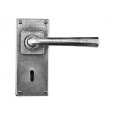 Pewter Lock/Keyhole Lever Handle on Jesmond Backplate (sprung)