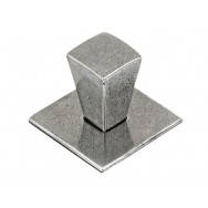 Small Taper Genuine Pewter Cabinet Knob