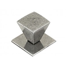 Large Taper Genuine Pewter Cabinet Knob