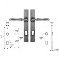 Pewter Multipoint Lock/Entry (un-sprung)