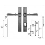 Pewter Multipoint Lock/Patio (un-sprung)