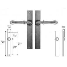 Pewter Multipoint Lock/Passage (un-sprung)