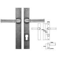 Pewter Multipoint Lock/Patio (un-sprung)