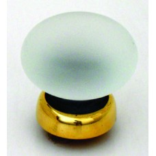 Frosted smooth Glass Cupboard Knob