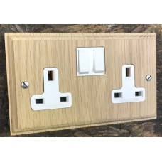Vertical Grain Double 13A Switched Socket **Limited Availability**