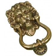 Knocker - Lion's head in aged brass