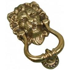 Knocker - Lion's head in aged brass
