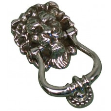 Knocker - Lion's head in aged nickel