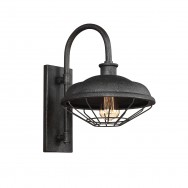 Slated Grey Metal Industrial Wall Light