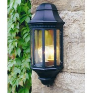 Malaga Wall Lantern in Black