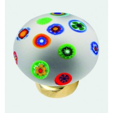 Millefiori Glass Cupboard Knob