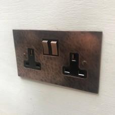 Double 13A switch socket