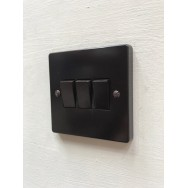 Triple Rocker Switch Brown