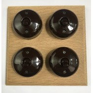 Quadruple 2 way Bakelite switch
