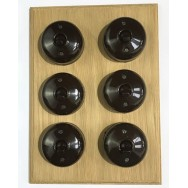 6 gang 2 way Bakelite switch
