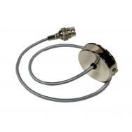 Polished Nickel Pendant Set with Round Silver Flex