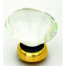 Oval Glass Cupboard Knob