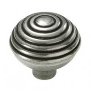 Beehive Genuine Pewter Cabinet Knob - 2 Part