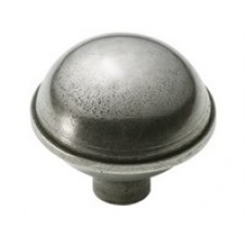 Dome Genuine Pewter Cabinet Knob - 2 Part
