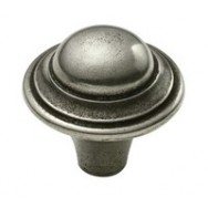 Haddon Genuine Pewter Cabinet Knob - 2 Part