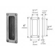 Genuine Pewter Pocket Door Flush Pull (Front Fix)