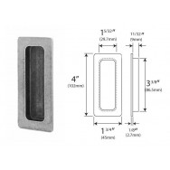Genuine Pewter Pocket Door Flush Pull (Glue Fix)