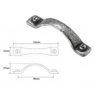 Hutton Small Genuine Pewter pull handle