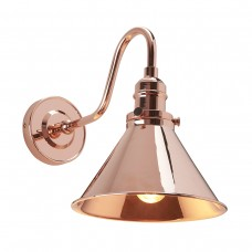 Provence 1lt Wall Light - Polished Copper