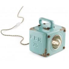 Porcelain Table Light Box Turquoise