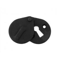 Natural Black Oval Escutcheon with Cover
