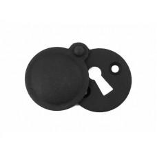 Natural Black Round Escutcheon with Cover