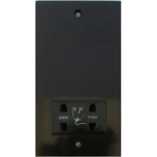 Dual voltage shaver socket