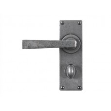 Forged Steel Lever Handle on Bathroom Backplate