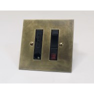 Switched fused spur with cord outlet