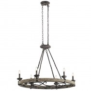 6lt Oval Lodge Inspired Chandelier