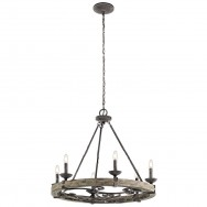 6lt Lodge Inspired Round Chandelier