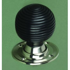 Ebony Door Knob Beehive Nickel