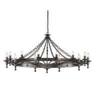 Warwick 12 Lt Chandelier Graphite Grey