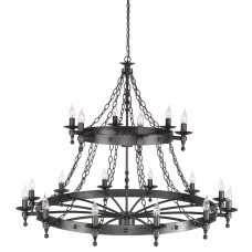 Warwick 18 Lt Chandelier Graphite Grey