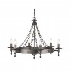 Warwick 6 Lt Chandelier Graphite Grey