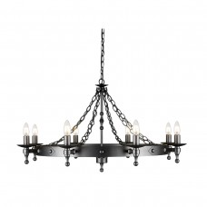 Warwick 8 Lt Chandelier Graphite Grey
