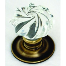 Whirl Glass Door Knob