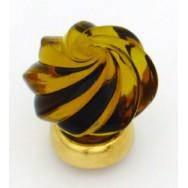 Whirl Glass Cupboard Knob