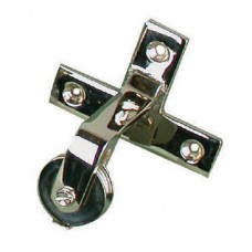 Bell pull - directional pulley in nickel