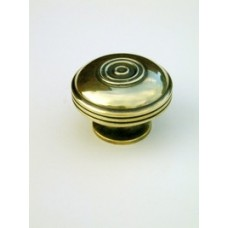Large bloxwich cupboard knob in aged brass.