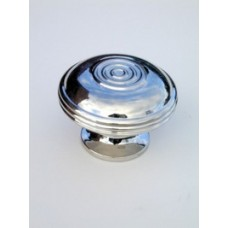 Large bloxwich cupboard knob in polished nickel.