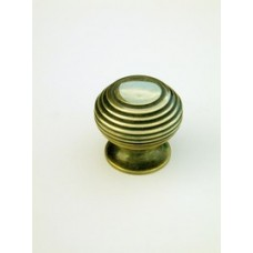 Small beehive cupboard knob in aged brass