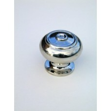 Small bloxwich cupboard knob in polished nickel.